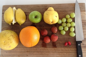 Miracle Berry fruit platter